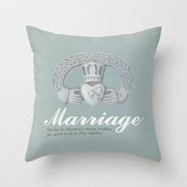 February Marriage Throw Pillow