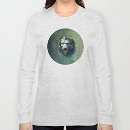 Lion Head Green Marble Long Sleeve T-shirt