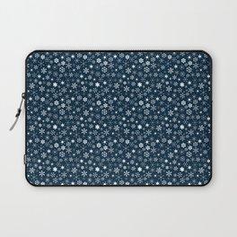 Blue & White Christmas Snowflakes Laptop Sleeve