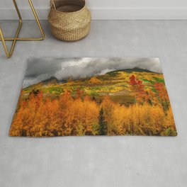 Autumn Scene at Crested Butte, Colorado Rug