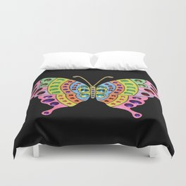 Jeweled Butterfly Duvet Cover