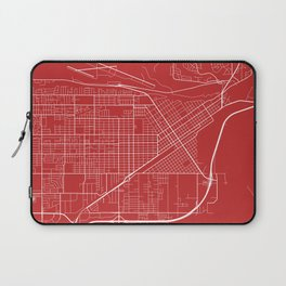 Billings Map, USA - Red Laptop Sleeve