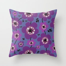 Mariposa in Violet Throw Pillow