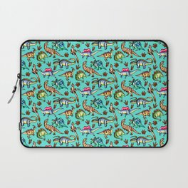 Dinosaur Panic - Blue Laptop Sleeve
