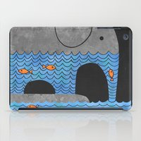grey iPad Cases featuring Thirsty Elephant  by Terry Fan