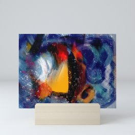 Energy of life is love abstract painting Mini Art Print