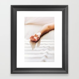 Hand in Sunlight Framed Art Print