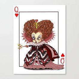 Funny Red Queen Canvas Print