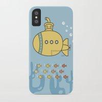 yellow submarine iPhone & iPod Cases featuring Yellow Submarine by Brenda Figueroa Illustration
