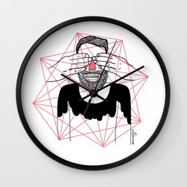 You close my eyes Wall Clock