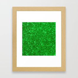 Glitter Green Image Framed Art Print