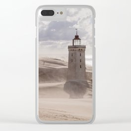 Sandstorm at the lighthouse Clear iPhone Case