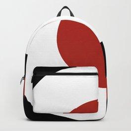 Black White Red Shape Backpack