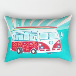 Surfer Sunrise Rectangular Pillow