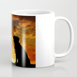 TWO DOGS AT SUNSET Coffee Mug