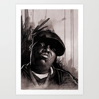 biggie Art Prints featuring BIGGIE by ChrisGreavesCreative