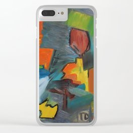 Pintura Pássaro Clear iPhone Case