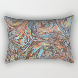 Crowded Colors Rectangular Pillow
