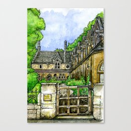Sir William Powell's Almshouses, SW6 Canvas Print