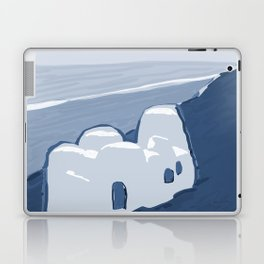 Labyrinth on the Shore, Sketch, Cyanotype Laptop & iPad Skin