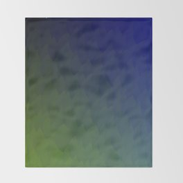 Ombre purple blue green peacock flames Throw Blanket