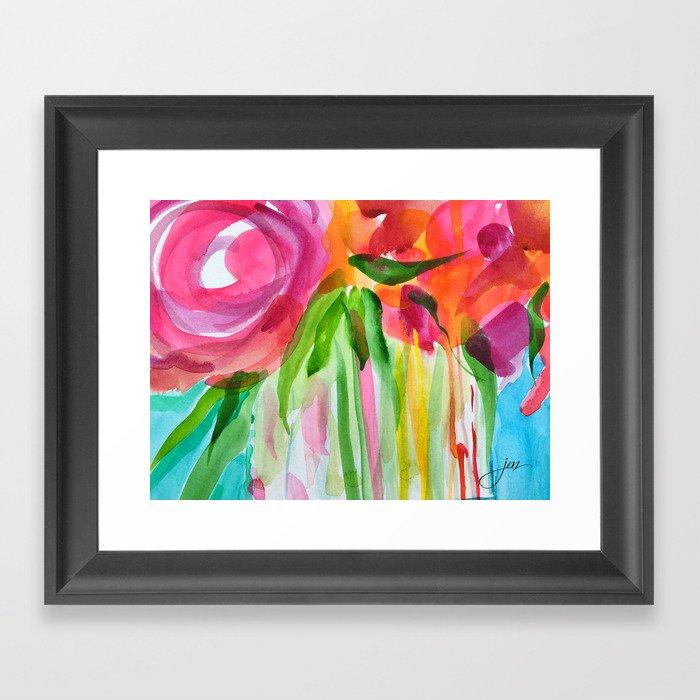 Burst of Color Gerahmter Kunstdruck
