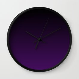 Black and Plum Gradient Wall Clock