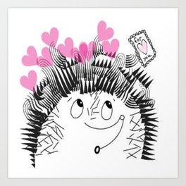 Valentine Porcupine Art Print