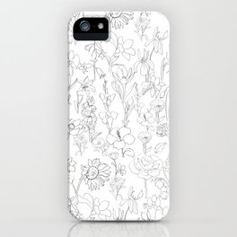 flowers drawing iPhone Case