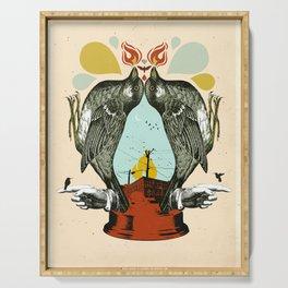 INDUSTRIAL BIRD LANTERN Serving Tray