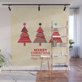 Three Christmas Trees Wall Mural
