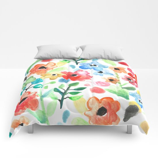 Flourish - Watercolor Floral Comforters