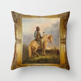 Framed Chief Pachycephalosaurus Throw Pillow