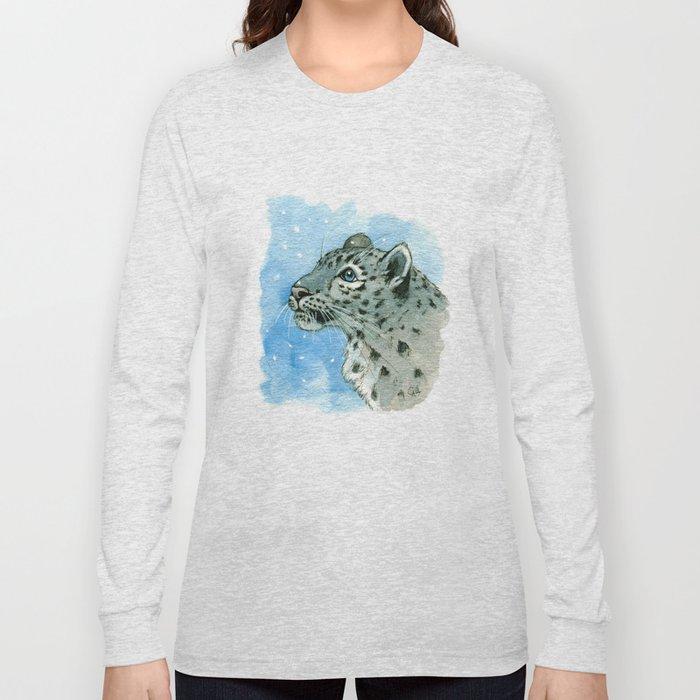 Snow Leopard & snowflakes 860 Long Sleeve T-shirt