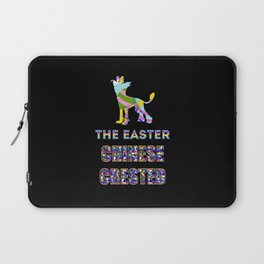 Chinese Crested gifts   Easter gifts   Easter decorations   Easter Bunny   Spring decor Laptop Sleeve