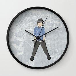Boys formal wear blue argyle Wall Clock