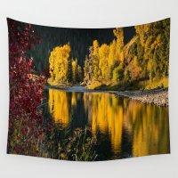 beaver Wall Tapestries featuring Sunrise Aspens Beaver Creek by John Minar Fine Art Photography