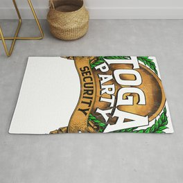 Funny Toga Party Security Guard Greek Wreath Rug