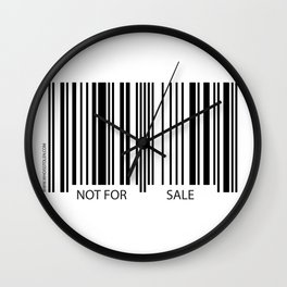 I AM NOT FOR SALE.. Wall Clock