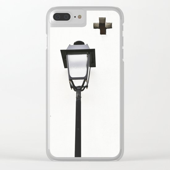 White House With Cross Clear iPhone Case
