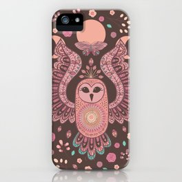 The Owl, The Moon & The Butterfly iPhone Case