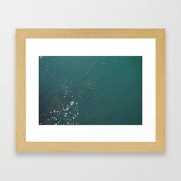 stone skimming Framed Art Print