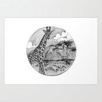Come on a safari with me Art Print