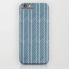 Herringbone Navy Inverse Slim Case iPhone 6s