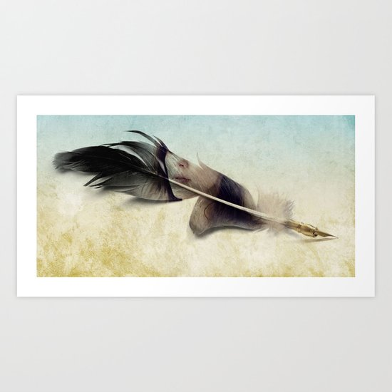Memory of a quill Art Print