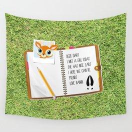 Deer Diary Wall Tapestry