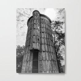 Black & White Silo Metal Print