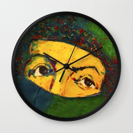 Only The Eyes Can Speak Wall Clock