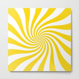 Swirl (Gold/White) Metal Print