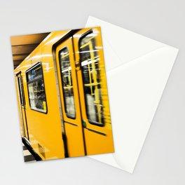 Berlin tube I U-Bahn I Vintage I Yellow colors I Fine art I Photography Stationery Cards